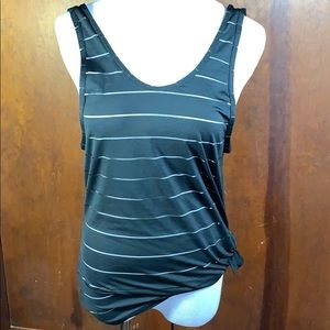 Athleta Max Out Black Side Tie Tank